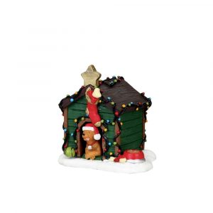 02808 - LEMAX DECORATED LIGHT DOGHOUSE
