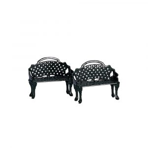 34897 - LEMAX PATIO BENCH, SET OF 2